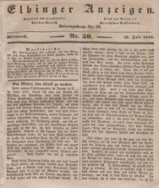 Elbinger Anzeigen, Nr. 59. Mittwoch, 25. Juli 1838