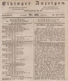 Elbinger Anzeigen, Nr. 60. Sonnabend, 28. Juli 1838