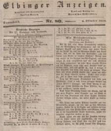 Elbinger Anzeigen, Nr. 80. Sonnabend, 6. Oktober 1838