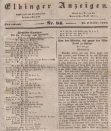 Elbinger Anzeigen, Nr. 84. Sonnabend, 20. Oktober 1838