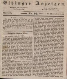 Elbinger Anzeigen, Nr. 93. Mittwoch, 21. November 1838