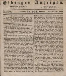 Elbinger Anzeigen, Nr. 101. Mittwoch, 19. Dezember 1838