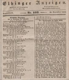 Elbinger Anzeigen, Nr. 102. Sonnabend, 22. Dezember 1838