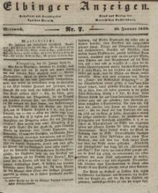 Elbinger Anzeigen, Nr. 7. Mittwoch, 23. Januar 1839