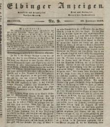 Elbinger Anzeigen, Nr. 9. Mittwoch, 30. Januar 1839