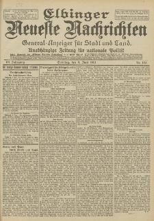 Elbinger Neueste Nachrichten, Nr. 133 Sonntag 9 Juni 1912 64. Jahrgang