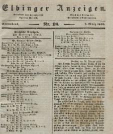 Elbinger Anzeigen, Nr. 18. Sonnabend, 2. März 1839