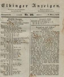 Elbinger Anzeigen, Nr. 20. Sonnabend, 9. März 1839