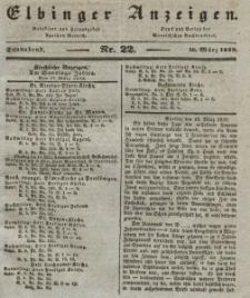 Elbinger Anzeigen, Nr. 22. Sonnabend, 16. März 1839