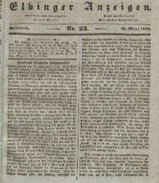 Elbinger Anzeigen, Nr. 23. Mittwoch, 20. März 1839