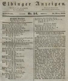 Elbinger Anzeigen, Nr. 24. Sonnabend, 23. März 1839