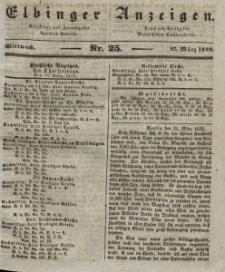 Elbinger Anzeigen, Nr. 25. Mittwoch, 27. März 1839
