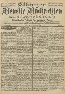 Elbinger Neueste Nachrichten, Nr. 134 Dienstag 11 Juni 1912 64. Jahrgang