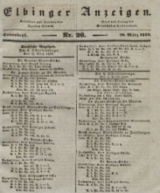 Elbinger Anzeigen, Nr. 26. Sonnabend, 30. März 1839