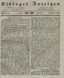 Elbinger Anzeigen, Nr. 27. Mittwoch, 3. April 1839