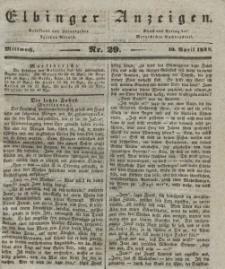 Elbinger Anzeigen, Nr. 29. Mittwoch, 10. April 1839
