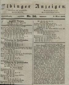 Elbinger Anzeigen, Nr. 36. Sonnabend, 4. Mai 1839