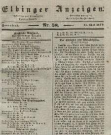 Elbinger Anzeigen, Nr. 38. Sonnabend, 11. Mai 1839