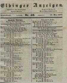 Elbinger Anzeigen, Nr. 40. Sonnabend, 18. Mai 1839