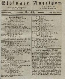 Elbinger Anzeigen, Nr. 42. Sonnabend, 25. Mai 1839