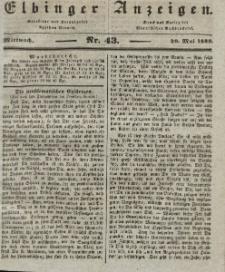Elbinger Anzeigen, Nr. 43. Mittwoch, 29. Mai 1839