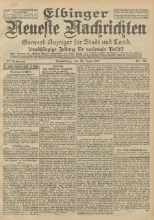 Elbinger Neueste Nachrichten, Nr. 136 Donnerstag 13 Juni 1912 64. Jahrgang
