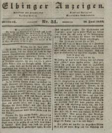 Elbinger Anzeigen, Nr. 51. Mittwoch, 26. Juni 1839