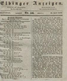 Elbinger Anzeigen, Nr. 56. Sonnabend, 13. Juli 1839