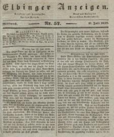 Elbinger Anzeigen, Nr. 57. Mittwoch, 17. Juli 1839