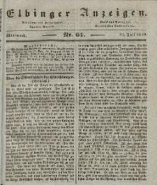 Elbinger Anzeigen, Nr. 61. Mittwoch, 31. Juli 1839