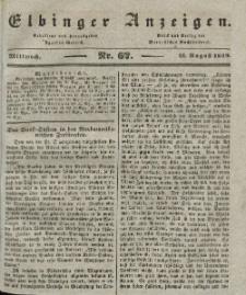 Elbinger Anzeigen, Nr. 67. Mittwoch, 21. August 1839
