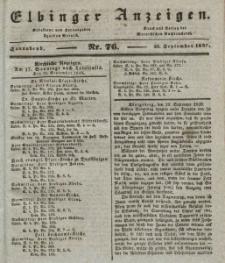 Elbinger Anzeigen, Nr. 76. Sonnabend, 21. September 1839