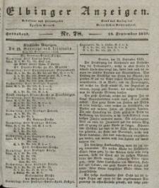 Elbinger Anzeigen, Nr. 78. Sonnabend, 28. September 1839