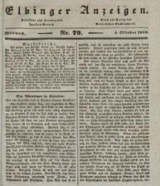 Elbinger Anzeigen, Nr. 79. Mittwoch, 2. Oktober 1839