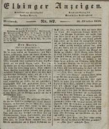Elbinger Anzeigen, Nr. 87. Mittwoch, 30. Oktober 1839