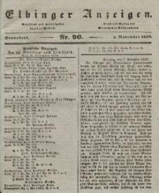Elbinger Anzeigen, Nr. 90. Sonnabend, 9. November 1839