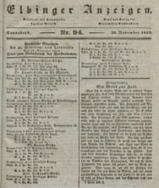 Elbinger Anzeigen, Nr. 94. Sonnabend, 23. November 1839
