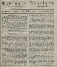 Elbinger Anzeigen, Nr. 95. Mittwoch, 27. November 1839