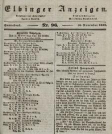 Elbinger Anzeigen, Nr. 96. Sonnabend, 30. November 1839