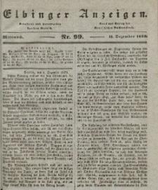 Elbinger Anzeigen, Nr. 99. Mittwoch, 11. Dezember 1839