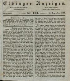 Elbinger Anzeigen, Nr. 101. Mittwoch, 18. Dezember 1839