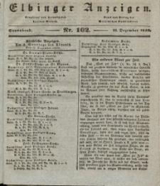 Elbinger Anzeigen, Nr. 102. Sonnabend, 21. Dezember 1839