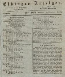 Elbinger Anzeigen, Nr. 105. Dienstag, 31. Dezember 1839
