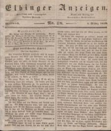 Elbinger Anzeigen, Nr. 18. Mittwoch, 4. März 1840