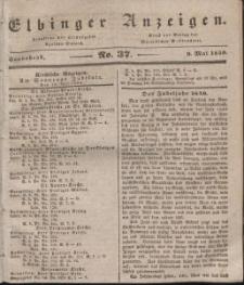 Elbinger Anzeigen, Nr. 37. Sonnabend, 9. Mai 1840