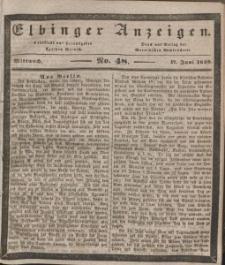 Elbinger Anzeigen, Nr. 48. Mittwoch, 17. Juni 1840