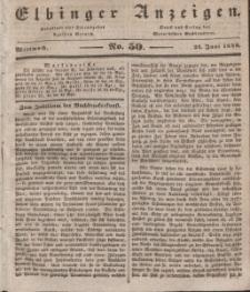 Elbinger Anzeigen, Nr. 50. Mittwoch, 24. Juni 1840