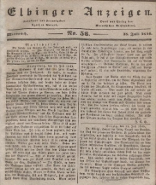 Elbinger Anzeigen, Nr. 56. Mittwoch, 15. Juli 1840