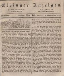 Elbinger Anzeigen, Nr. 70. Mittwoch, 2. September 1840