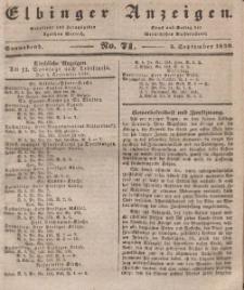 Elbinger Anzeigen, Nr. 71. Sonnabend, 5. September 1840